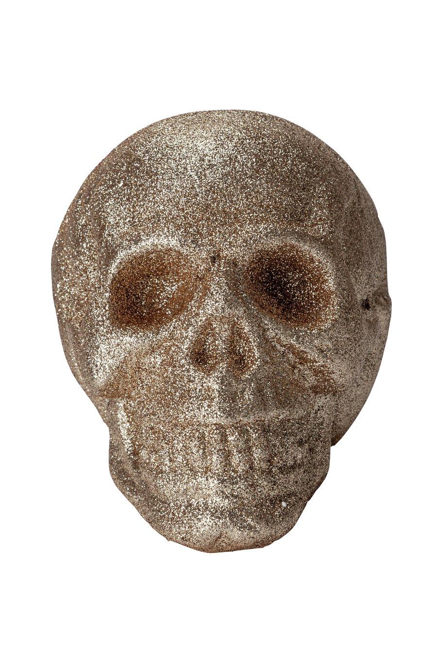 Argos Home Halloween Glitter Skull Head