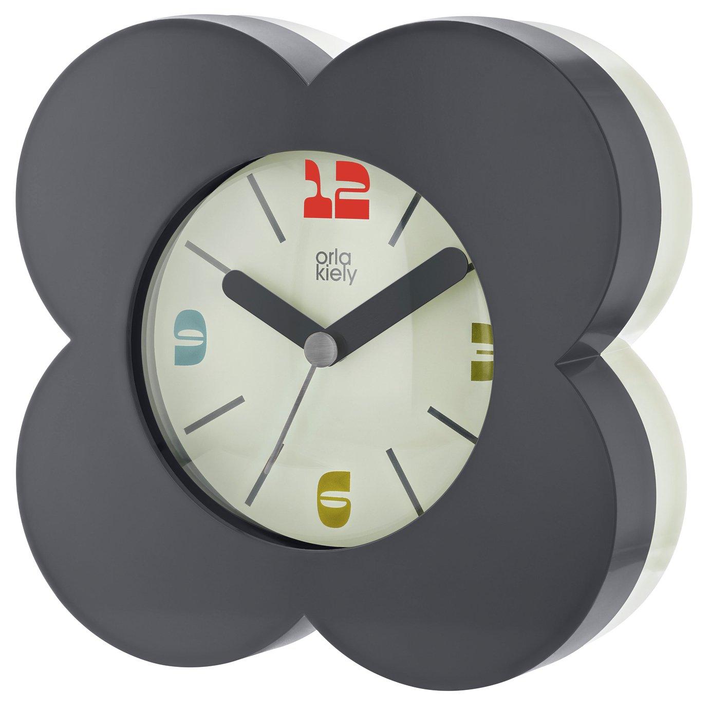 Orla Kiely Alarm Clock - Blue & Cream