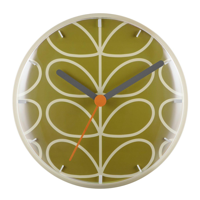 Orla Kiely Wall Clock - Olive
