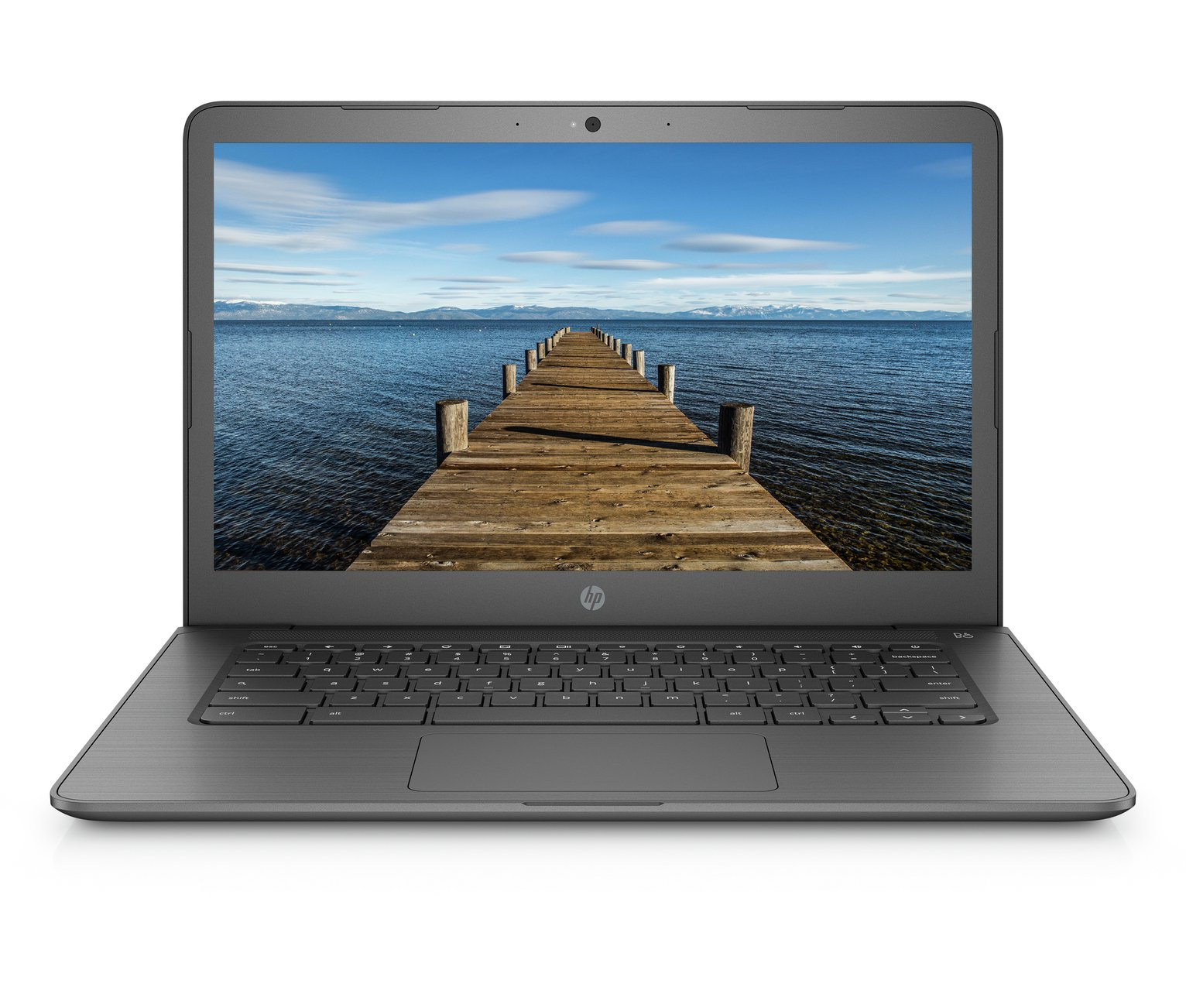 HP 14 Inch A4 4GB 32GB Chromebook - Grey