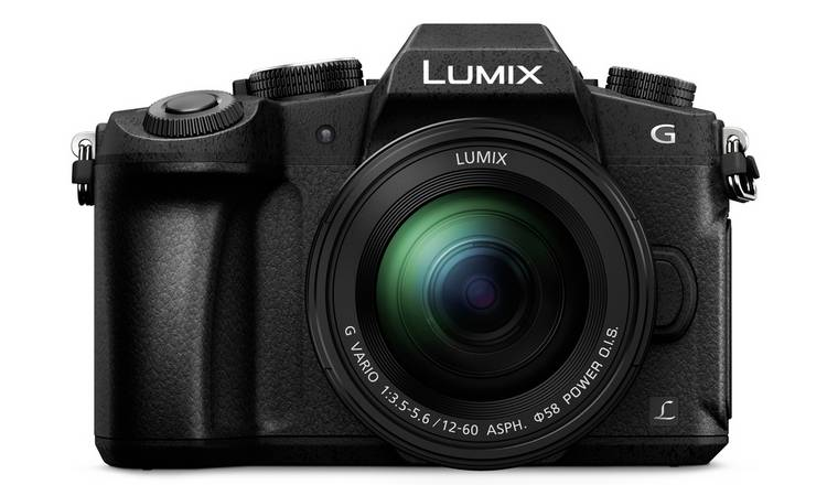 Panasonic Lumix G80 Mirrorless Camera, 12-60mm Lens - Black