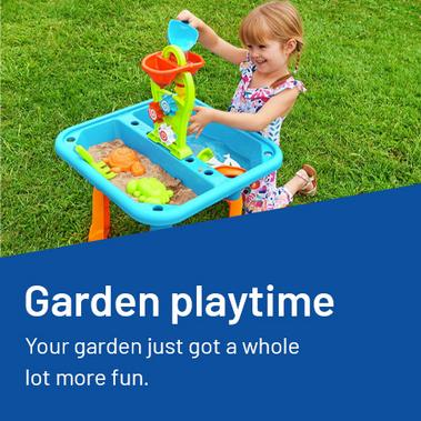 Garden playtime. Your garden just got a whole lot more fun.