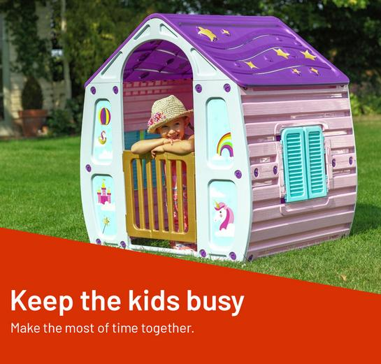 Keep the kids busy. Make the most of time together.