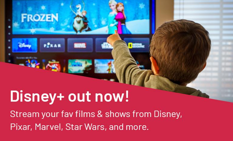 Disney+ out now! Stream your fav films & shows from Disney, Pixar, Marvel, Stars Wars, and more.