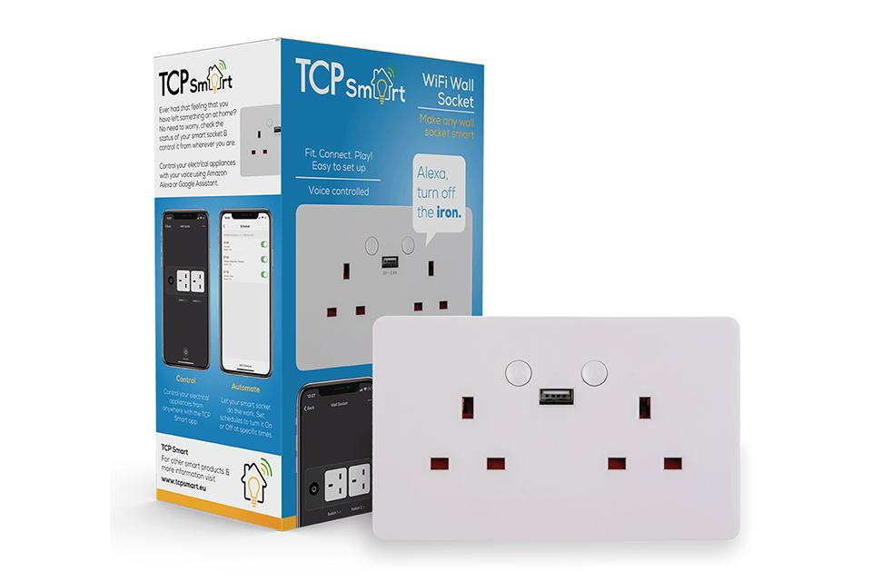 Smart Wi-Fi 2 GANG socket - White - UK.