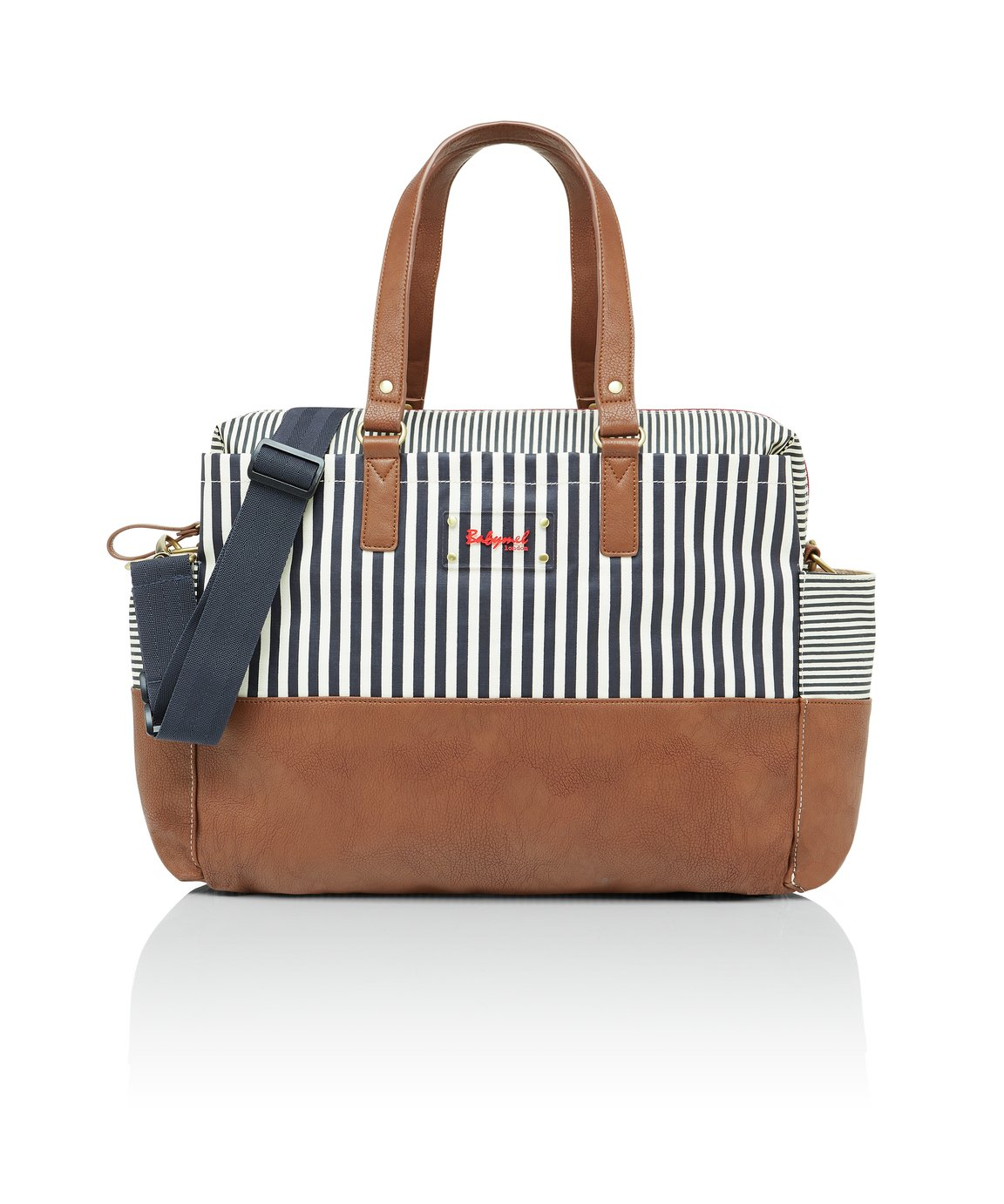 Babymel Millie Stripe Changing Bag - Navy