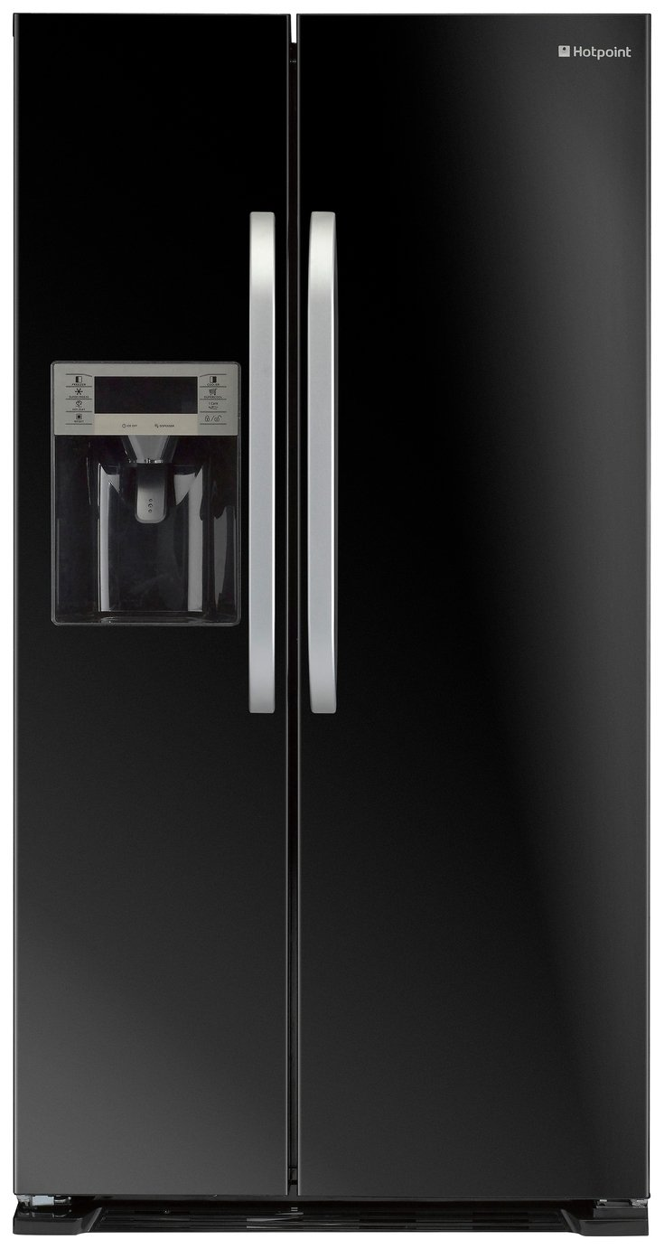 Hotpoint SXBD925 American Fridge Freezer - Black
