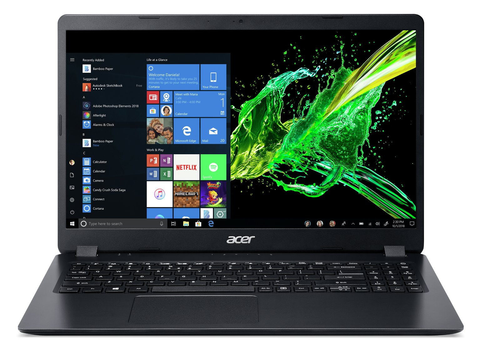 Acer Aspire 3 15.6in i3 8GB 1TB Laptop - Black