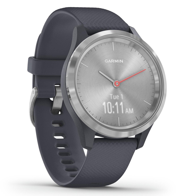 Garmin Vivomove 3S Smart Watch - Silver / Granite Blue Band