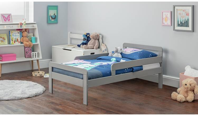 Argos Home Ellis Toddler Bed and Kids Mattress - Grey