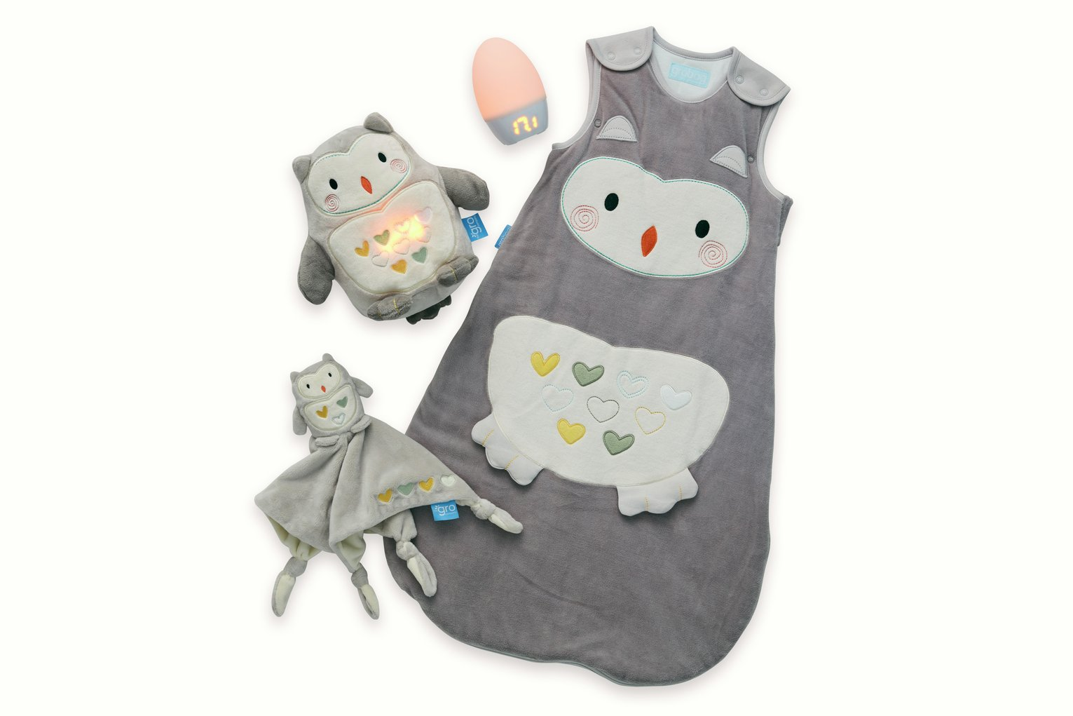 Gro Ollie the Owl Sleep Set, Including Gro Egg 2