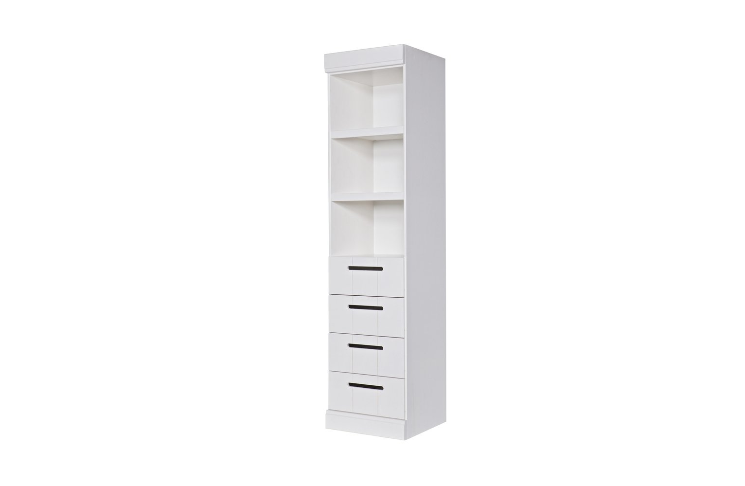 Woood Connect White 4 Drawer Chest of Drawers