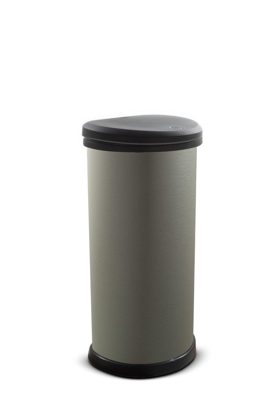 Curver 40 Litre Deco Touch Top Kitchen Bin - Graphite