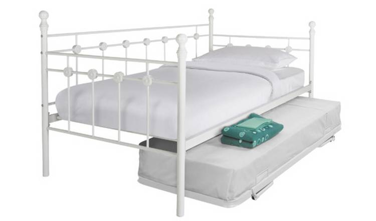 Argos Home Abigail Metal Daybed and Trundle - White