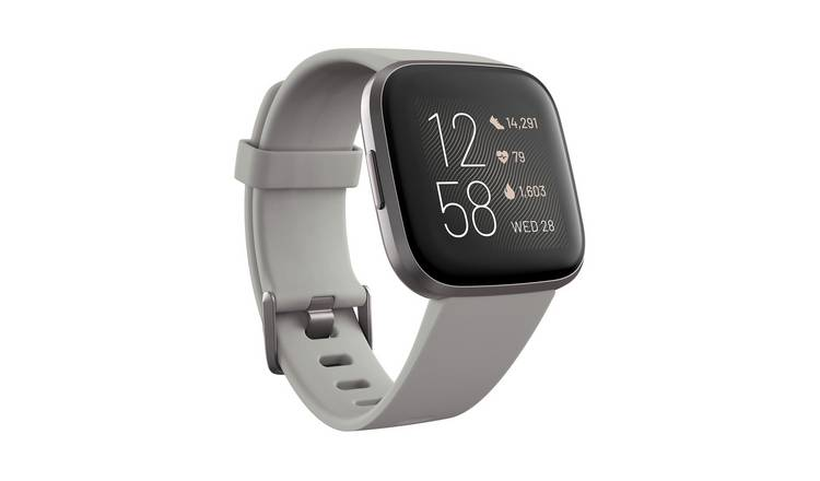 Fitbit Versa 2 Smart Watch - Grey Alu / Stone Band