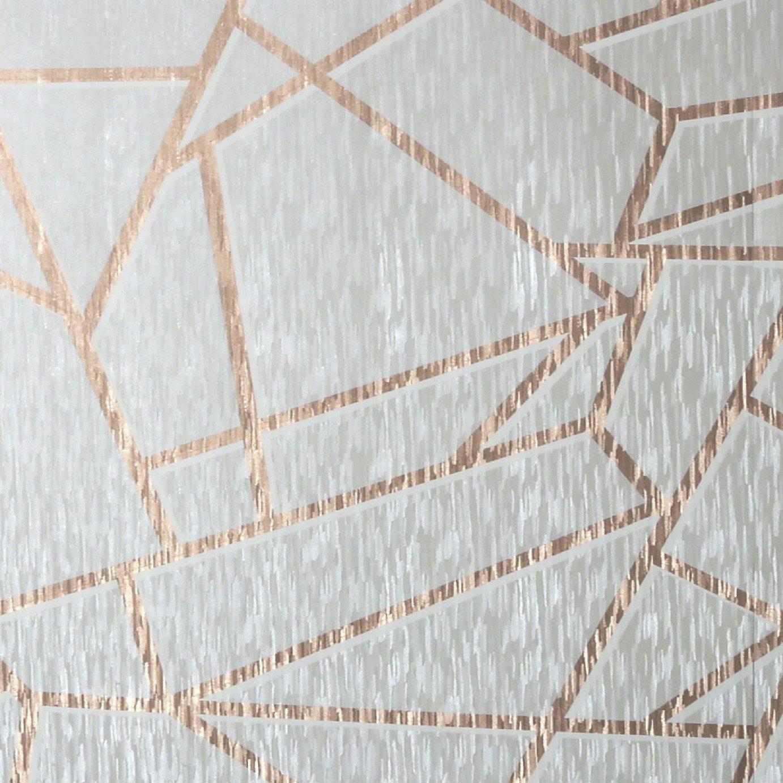 Sublime Theia Geometric Mist & Rose Gold Wallpaper