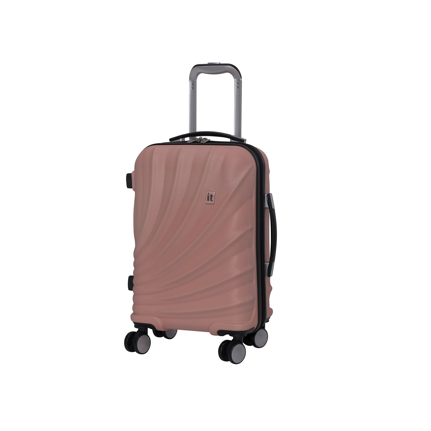it Luggage Pagoda Expandable 8 Wheel Cabin Suitcase - Pink