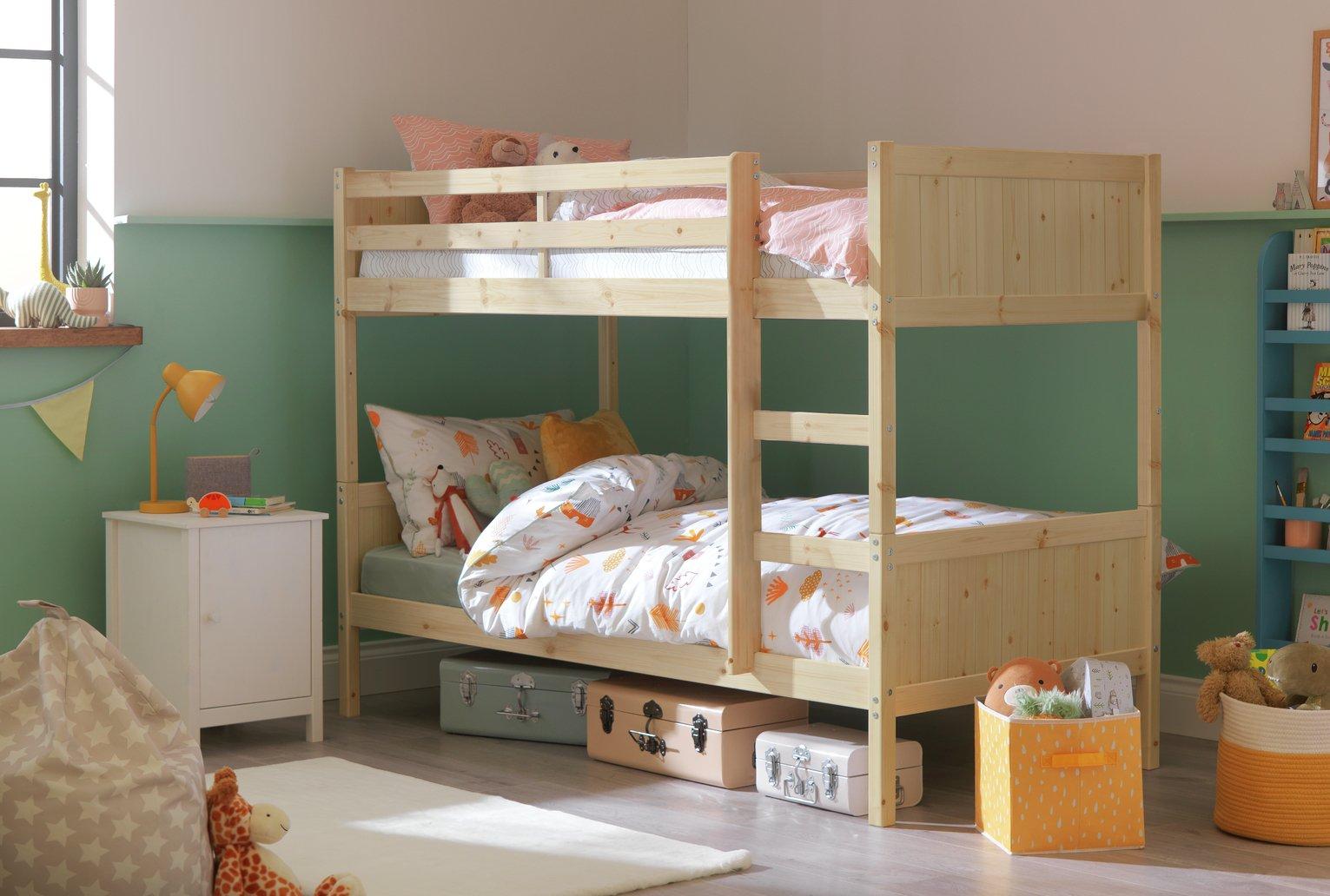 Argos Home Detachable Bunk Bed Frame - Pine