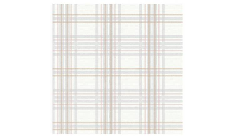 Superfresco Easy Country Tartan Blush Wallpaper