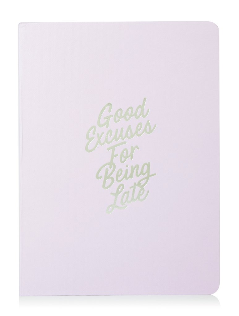 Skinnydip Good Excuses Being Late Notebook