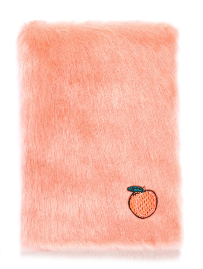 Skinnydip Fluffy Peach Notebook