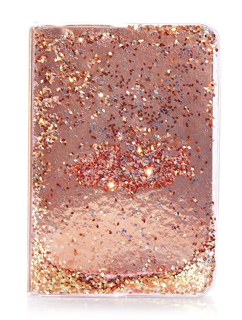 Skinnydip Rose Gold Glitter A5 Notebook