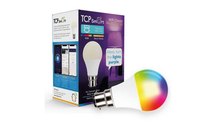 TCP Smart Wi-Fi Multicolour B22 LED Bulb