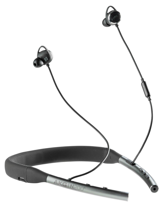 AKG N200NC In - Ear Neckband Wireless Headphones - Black