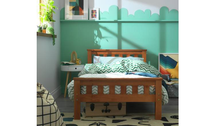 Argos Home Heavy Duty Single Bed Frame - Pine