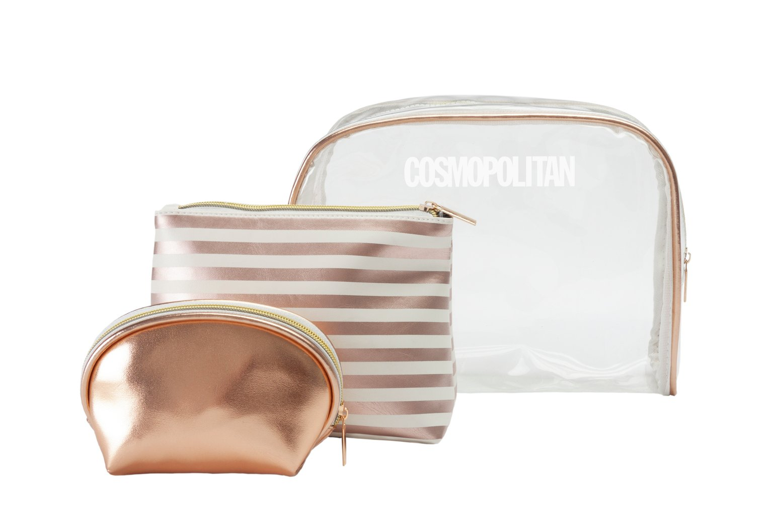 Cosmopolitan Set of 3 Make Up Bags