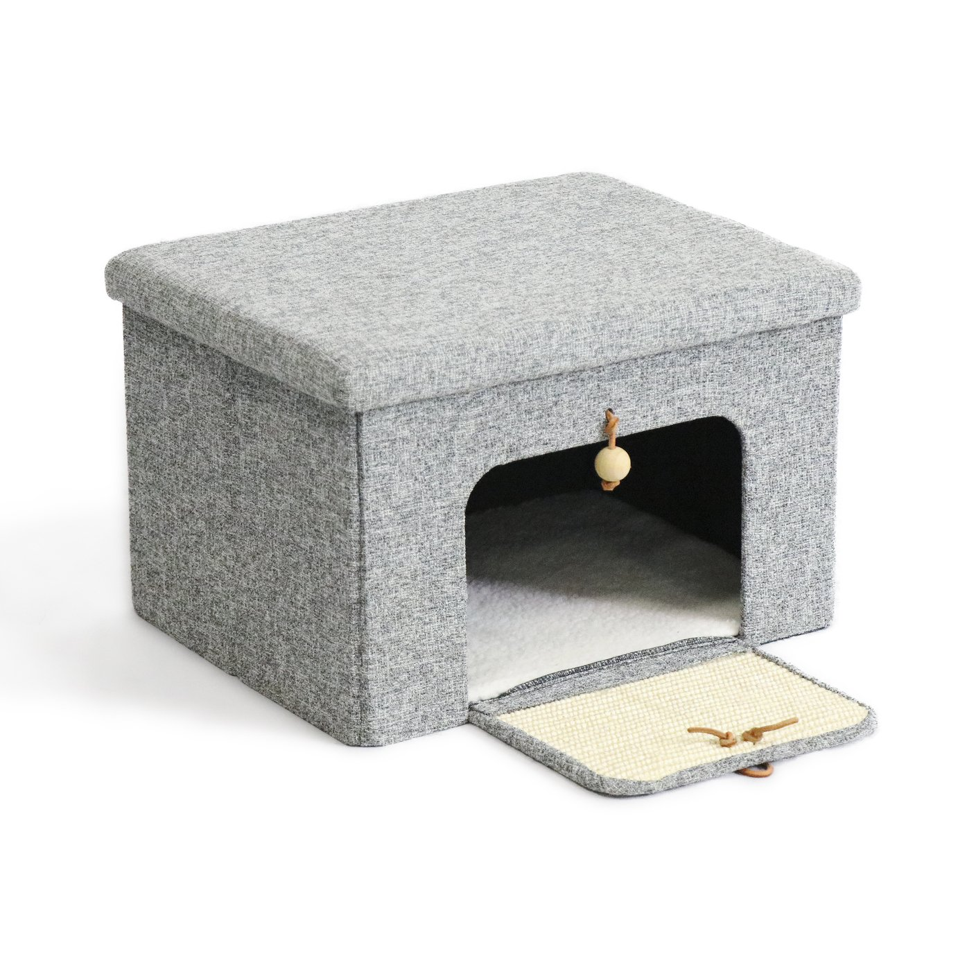 Cat Lounge Box with Scratcher