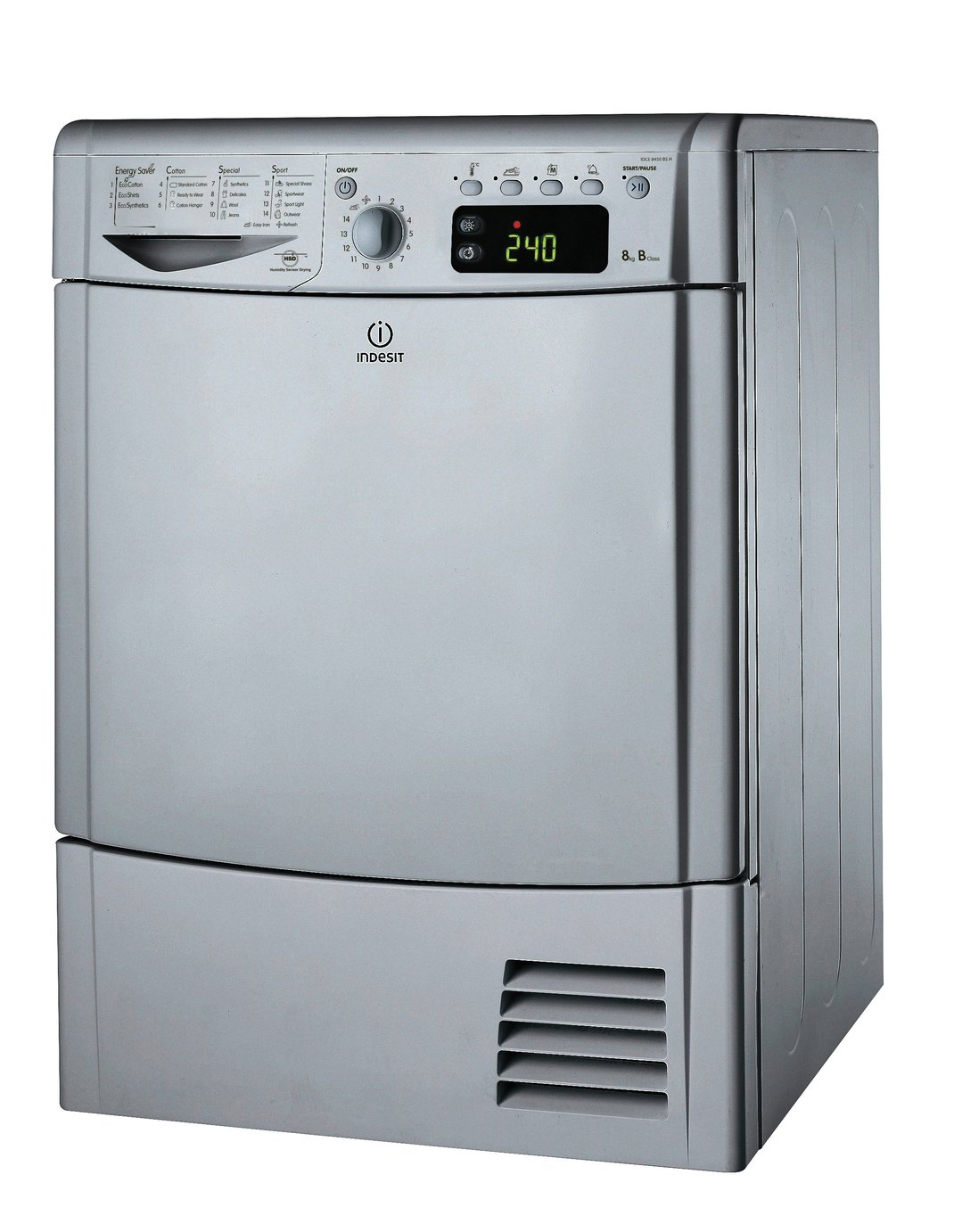 Indesit Ecotime IDCE8450BSh Tumble Dryer Silver + Installation