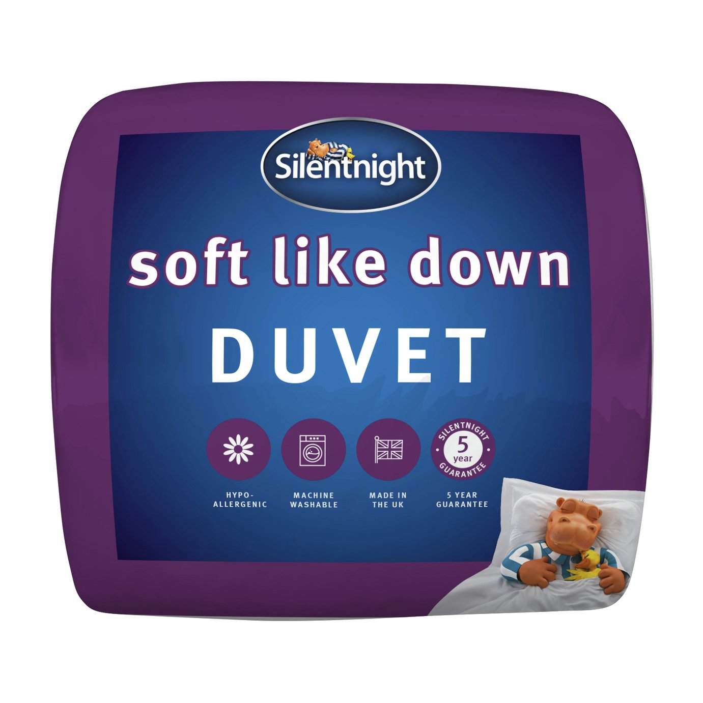 silentnight  soft like down 105 tog  duvet  double