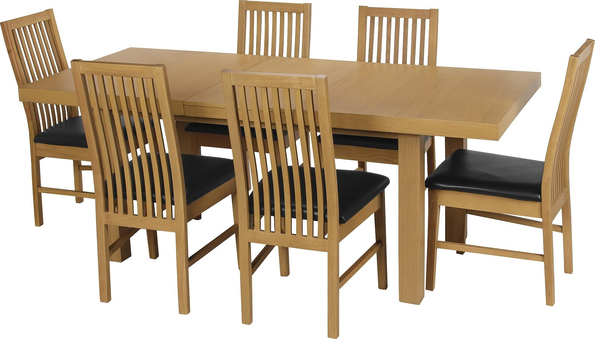Buy Collection Franklin Ext Oak Veneer Table   Chairs - Black at