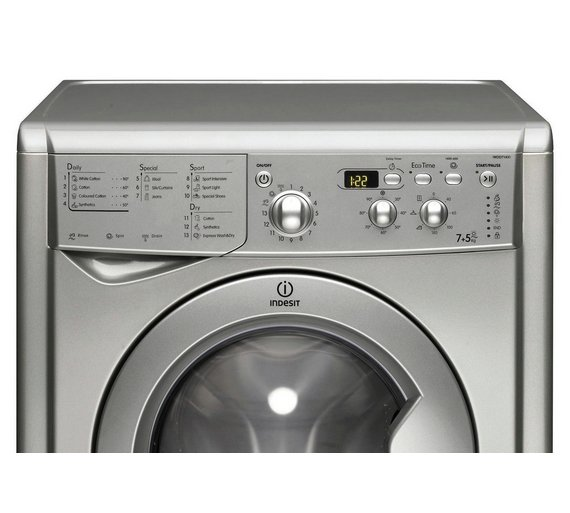 Buy Indesit Eco-Time IWDD7143S Washer Dryer - Silver at Argos.co ...