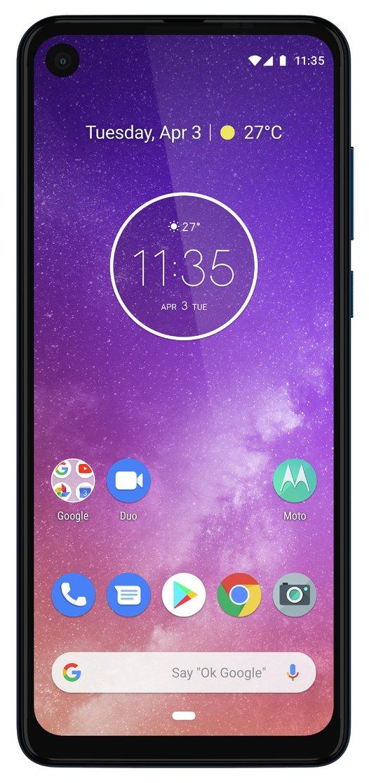 SIM Free Moto One Vision 128GB Mobile Phone - Blue