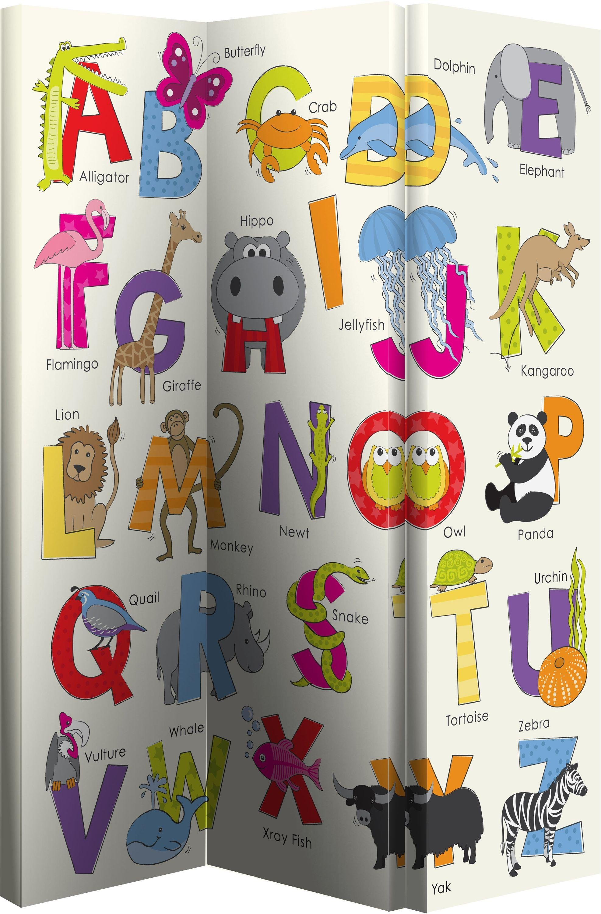Image of Animals ABC Room Divider - Multicoloured.