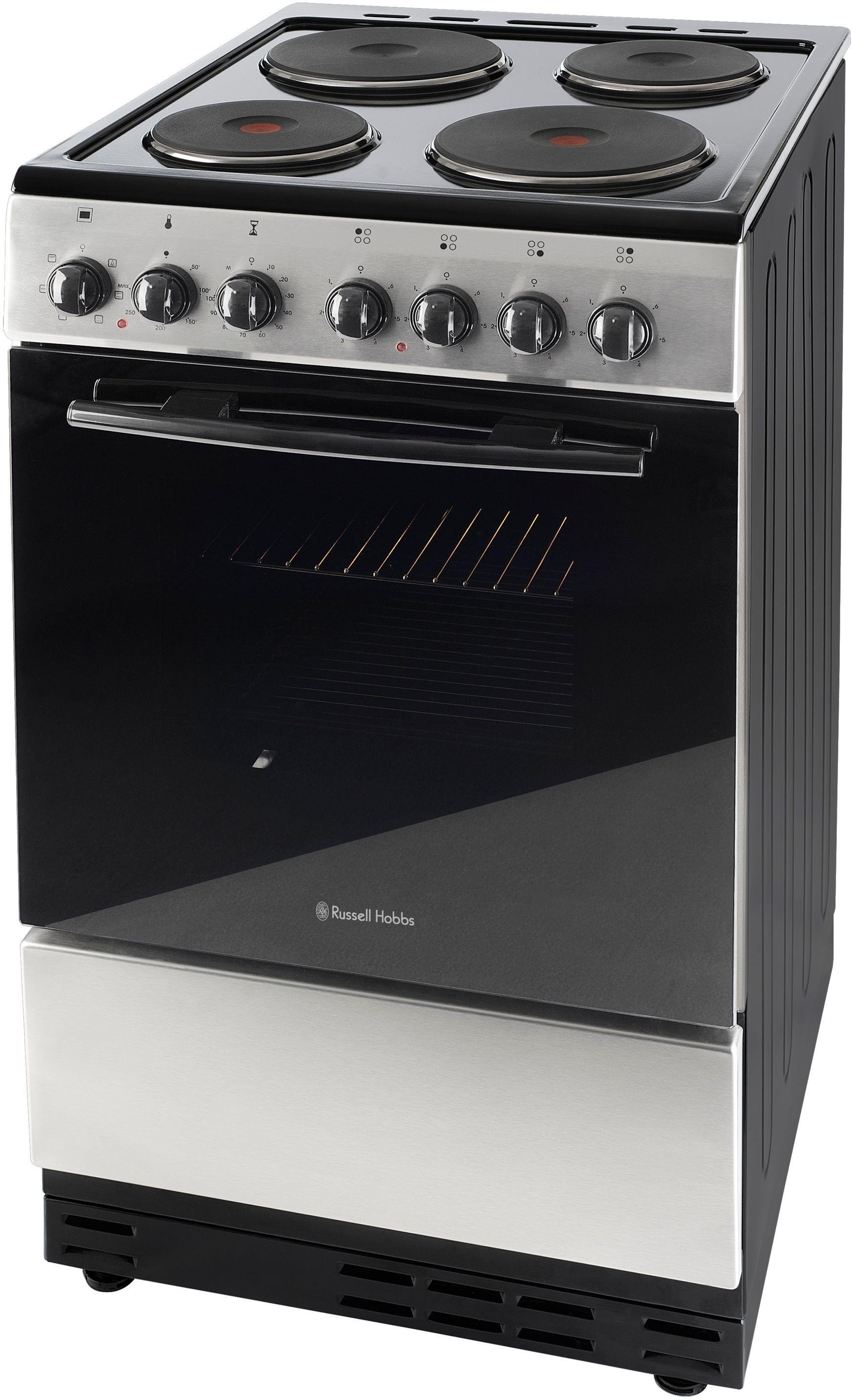 russell hobbs rhec1sw single electric cooker s steel. Black Bedroom Furniture Sets. Home Design Ideas