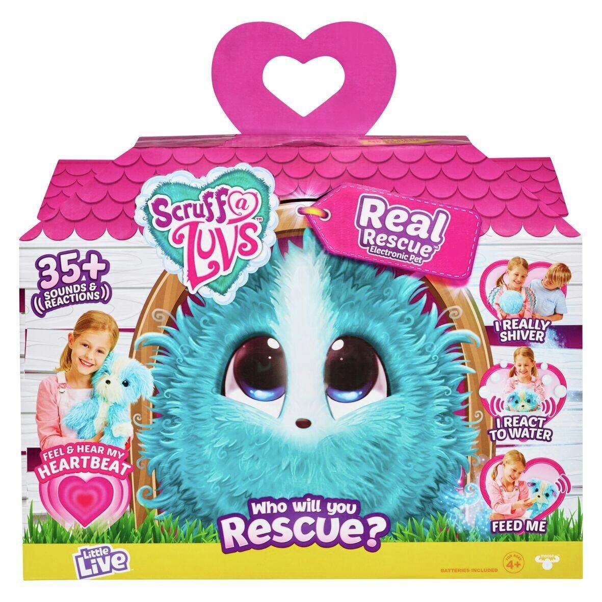 Scruff a Luvs Real Rescue - Surprise Interactive Pet - Aqua