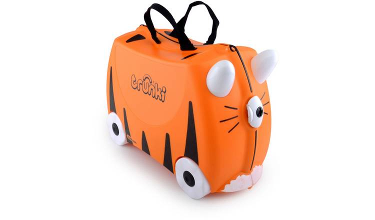 Trunki Tipu Tiger 4 Wheel Hard Ride On Suitcase - Orange