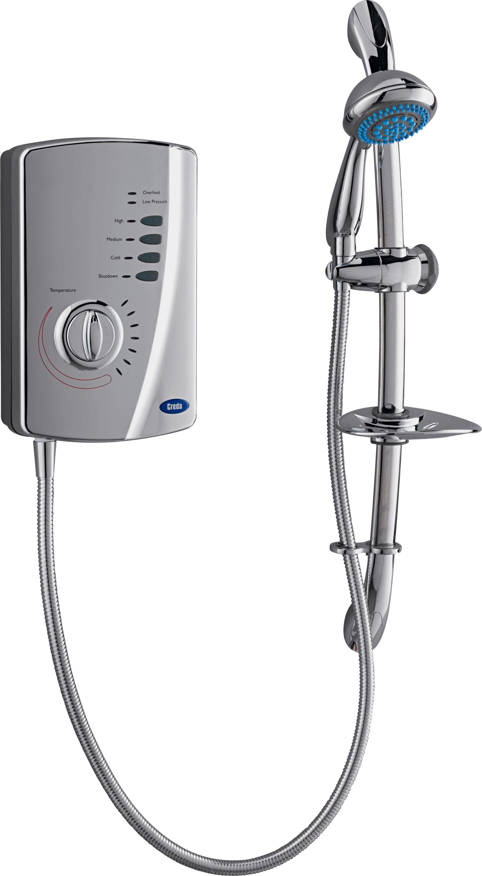 Image of Creda 550C 8.5kW Chrome Electric Shower - Silver Chrome