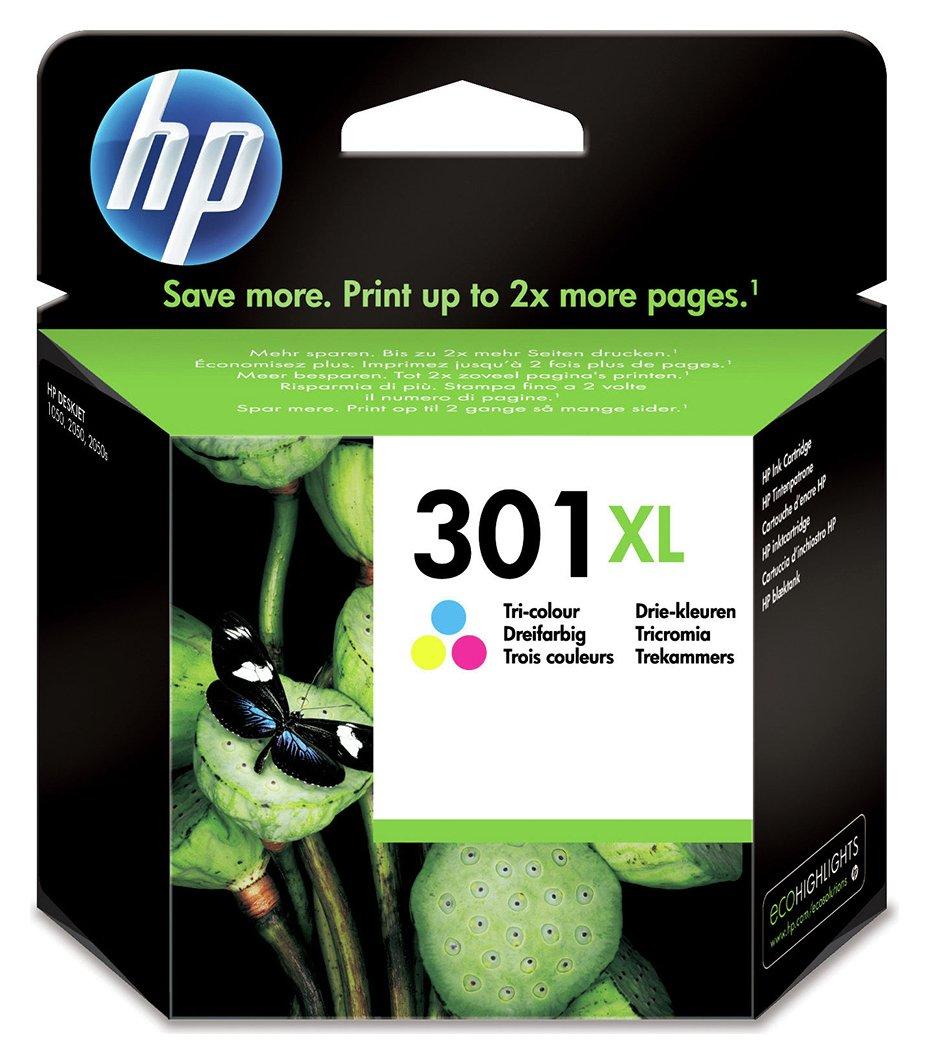 HP 301 XL High Yield Original Ink Cartridges - Colour