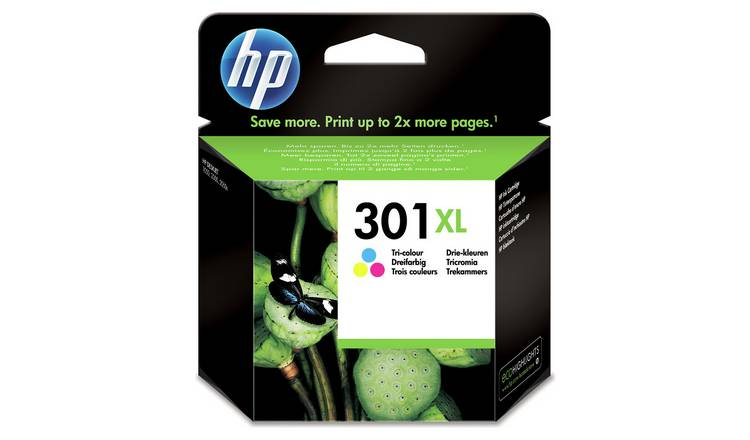 HP 301 XL High-Yield Original Ink Cartridges - Colour