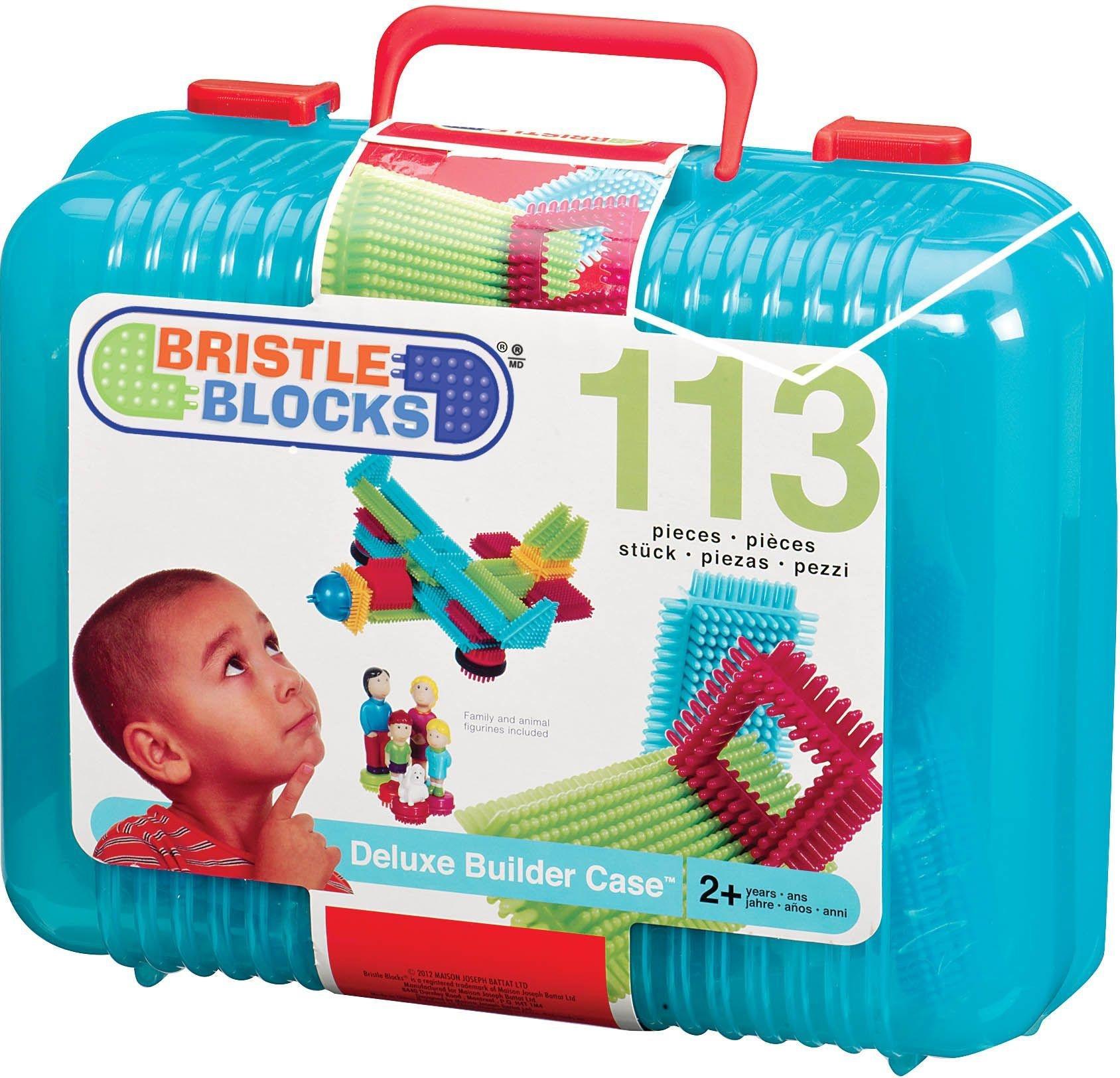 Image of Bristle Blocks Deluxe Builder Case - 113 Pieces.