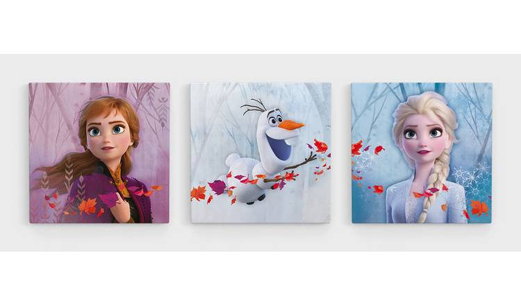 Disney Frozen 2 Set of 3 Canvas Wall Art
