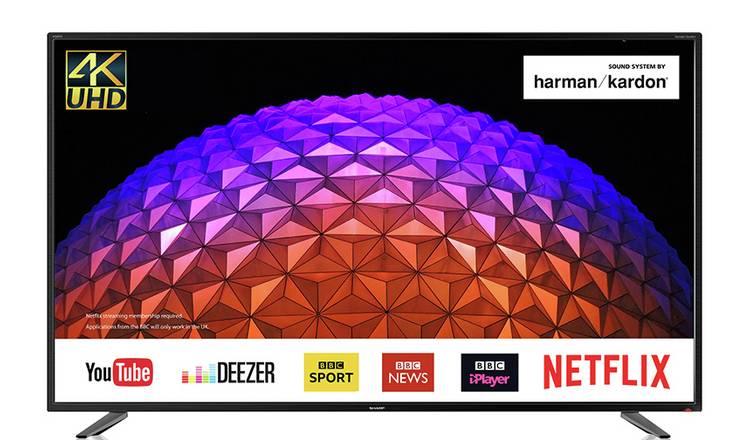 Buy Sharp 55 Inch LC-55UI7252K Smart 4K HDR LCD TV   Televisions   Argos