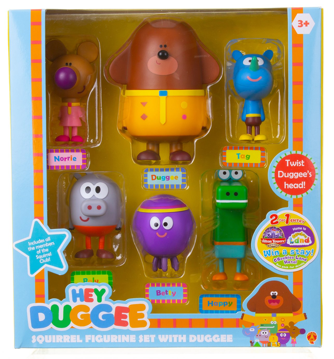 Hey Duggee Squirrel Figurine Set with Duggee Gift Pack