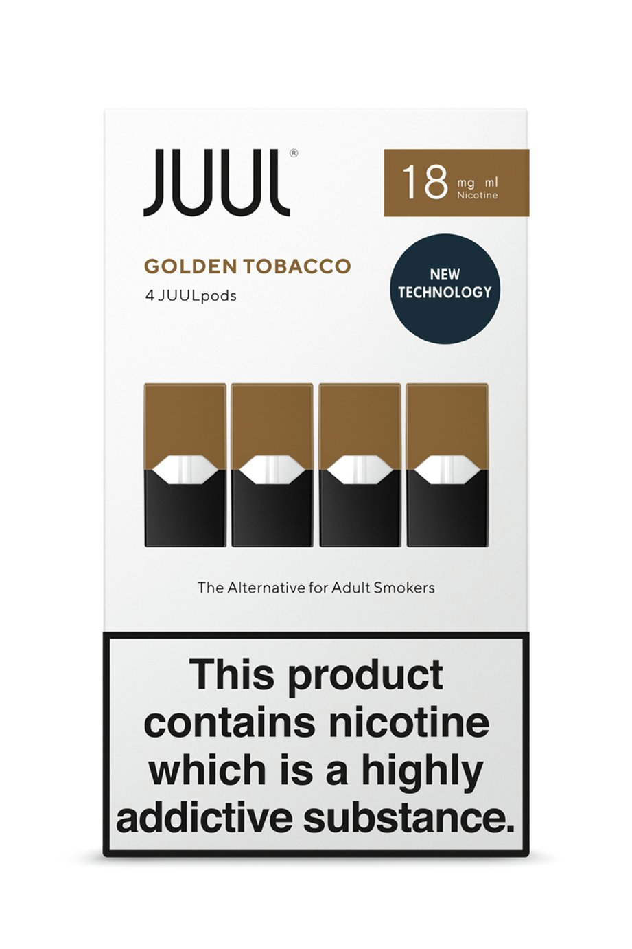 JUUL Golden Tobacco PODs 18mg