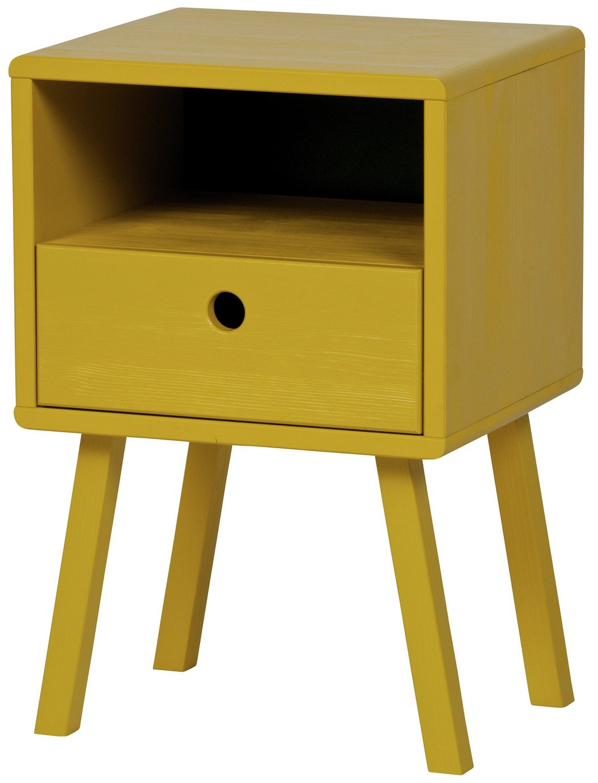 Woood Sammie Mustard Bedside Cabinet