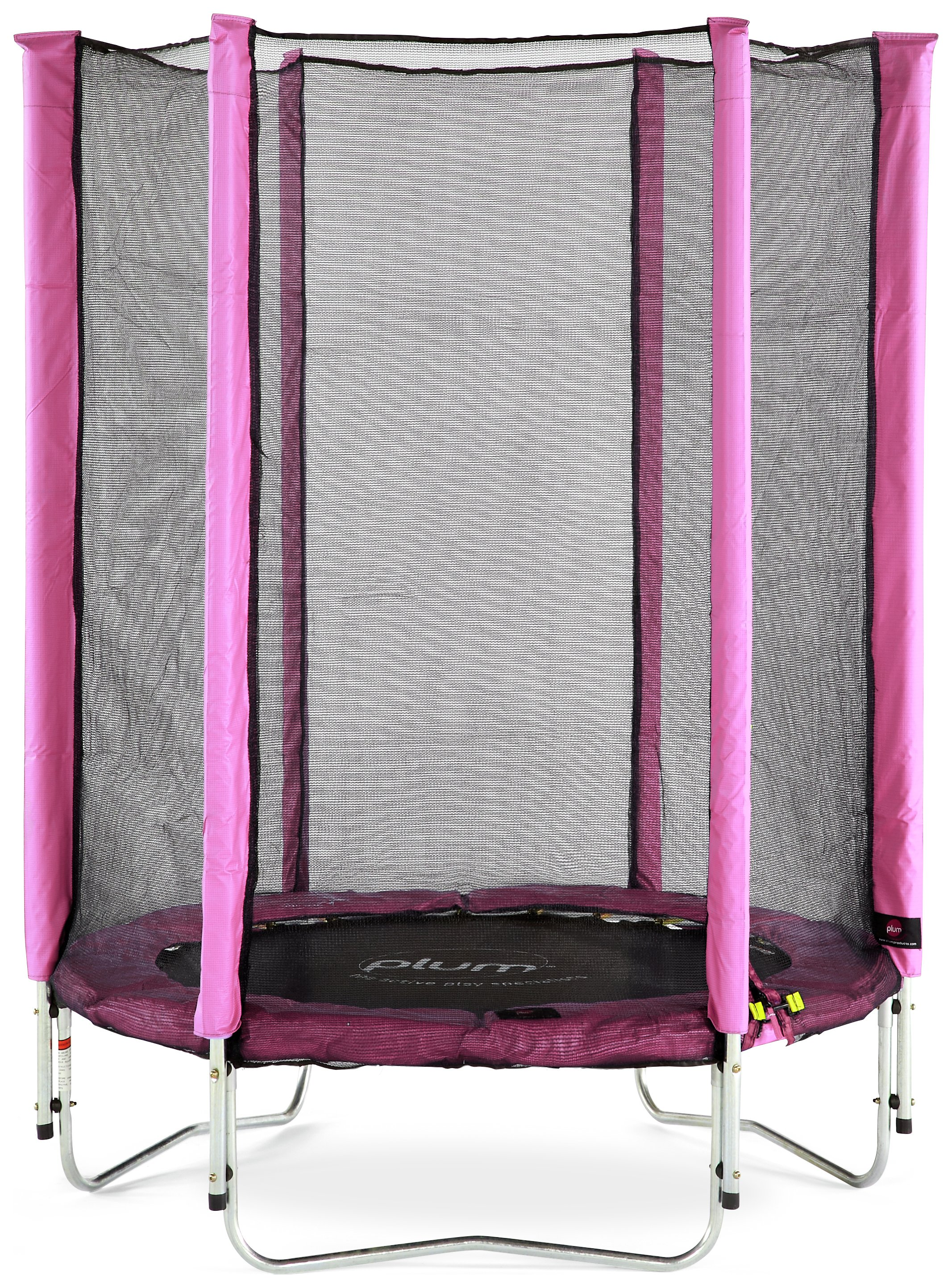 Plum Junior Trampoline and Enclosure - Pink